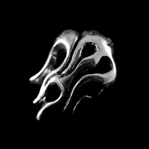 Flammen Ohrstecker aus 925er Silber