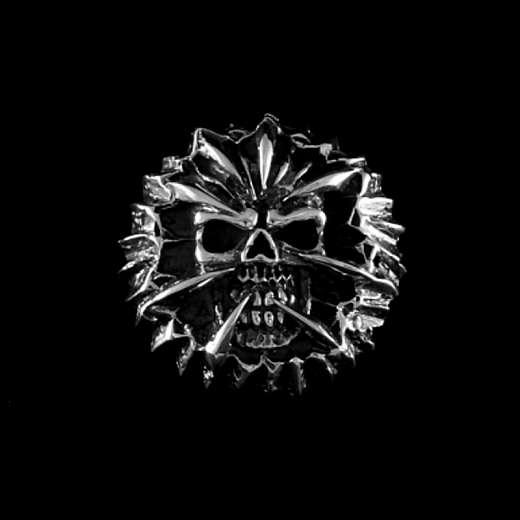 Totenkopf Schraubniete aus 925er Silber