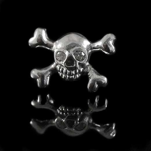 St. Pauli Skull Totenkopf Ohrstecker Totenkopfschmuck 925er Silber