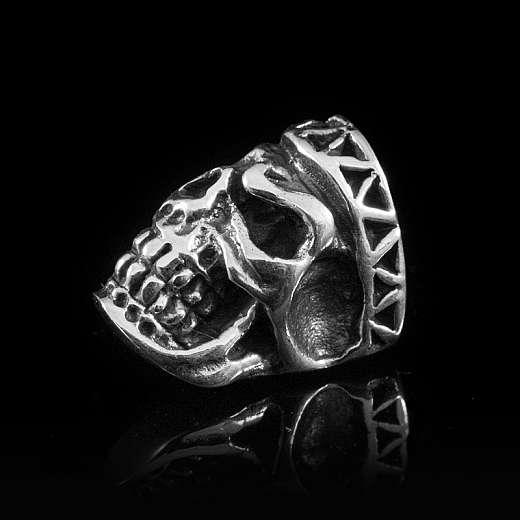 Totenkopfschmuck Ohrstecker gespalten aus 925er Silber