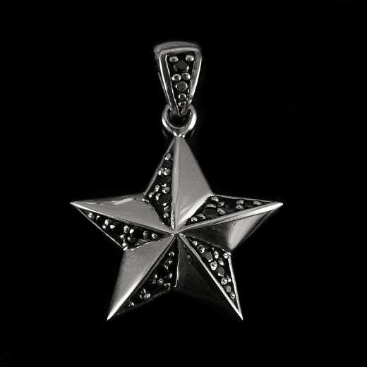 Stern Anhänger aus Silber mit Zirkonia Steinen
