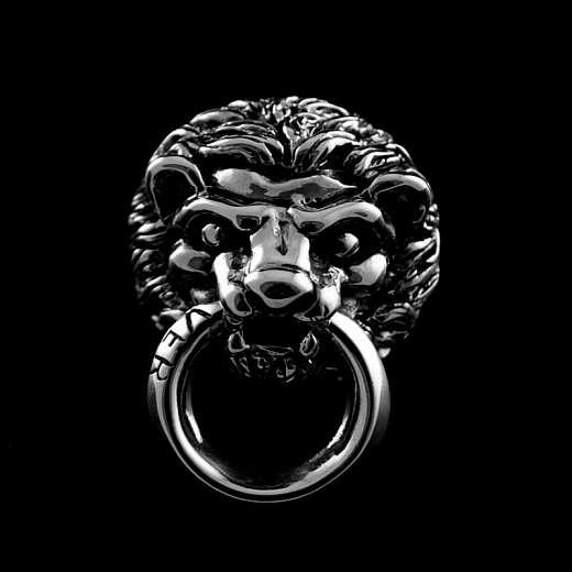Zierniete mit Löwenkopf aus Sterlingsilber