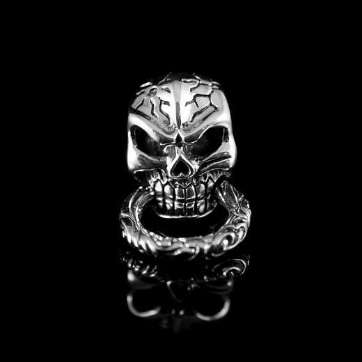 Schraubniete Skull mit Ring im Kiefer
