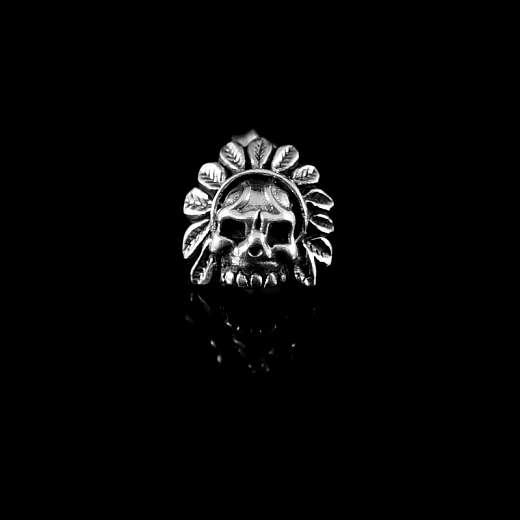 Totenkopf Ohrstecker Indianer Skull aus Silber