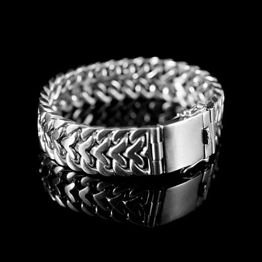 Elegantes Armband aus Silber 15 mm