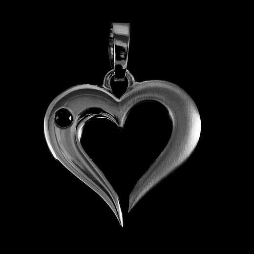 Herz Anhänger mit Edelstein aus 935 Silber