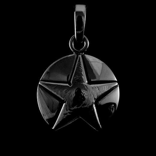 Stern Anhänger 935 Silber schwarz rhodiniert