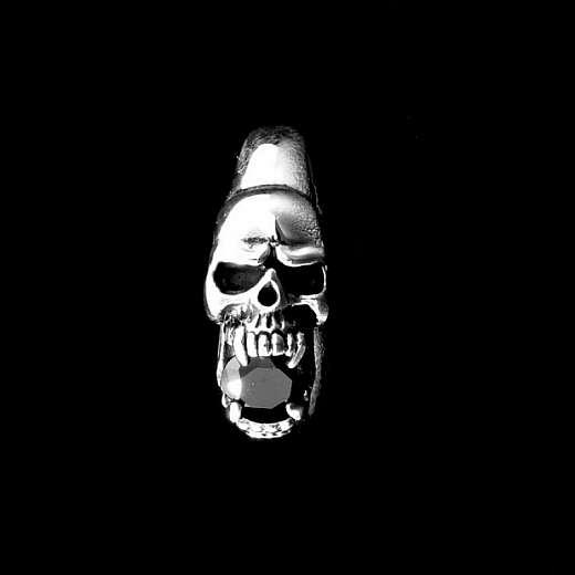 Vampir Totenkopfring aus Ag 925er Sterlingsilber