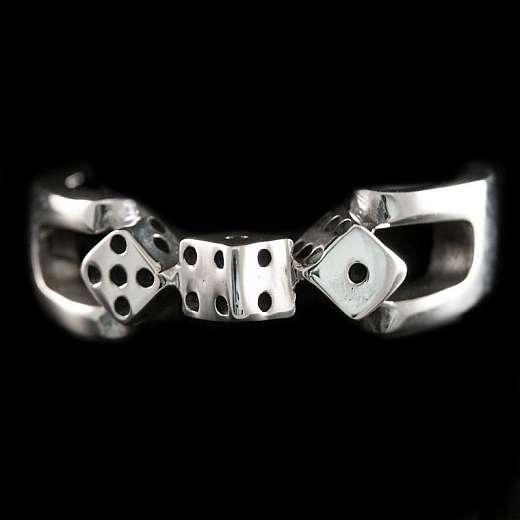 Ring mit Würfel aus Silber, Lucky Dice