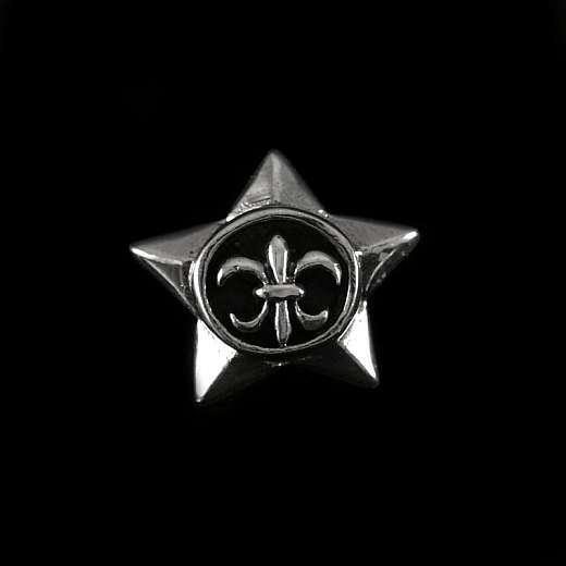 Stern Ohrstecker mit Lilie aus Silber