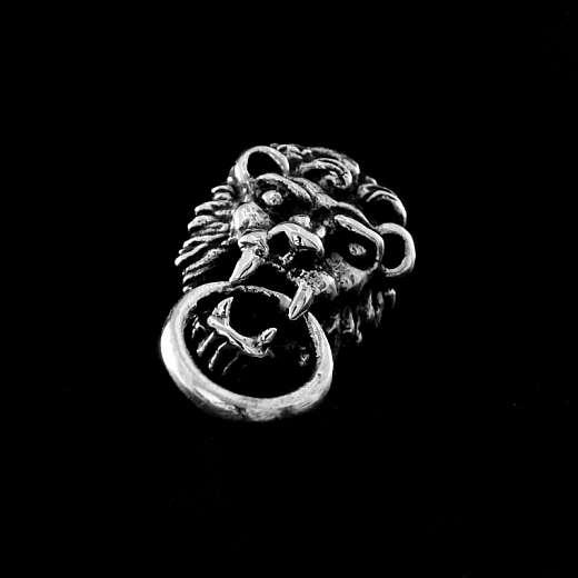 Löwen Ohrstecker aus 925 Sterling Silber