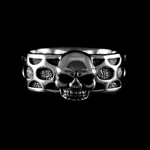 Ring mit Totenkopf Skull und Muster