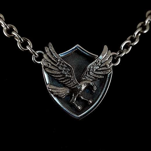 Anhänger Adler im Wappen aus Silber