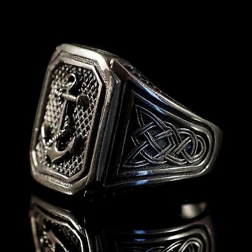 Anker Silber Schmuck Ring mit Siegel