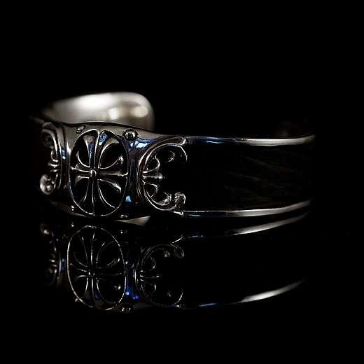 Armband mit Templerkreuz und Leder