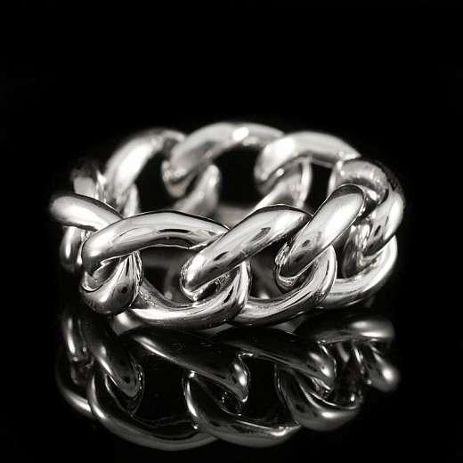 Bikerschmuck Panzerketten Ring aus Sterlingsilber