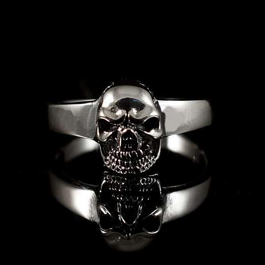 Bikerschmuck Totenkopf Ring aus 925er Silber