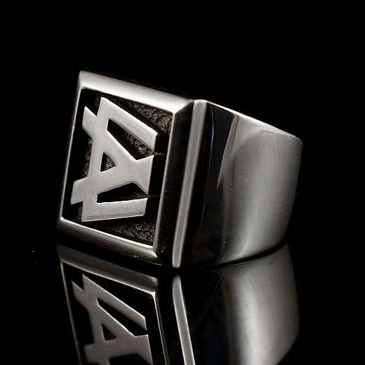 Ring mit Logo nach Kundenvorgabe gefertigt.