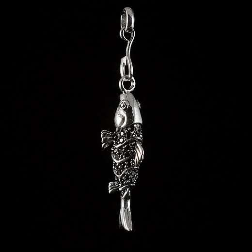 Fisch Koy Anhänger aus Silber mit Zirkonia Steinen