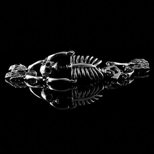 Skelett Gothic Totenkopf Armband The Ghost