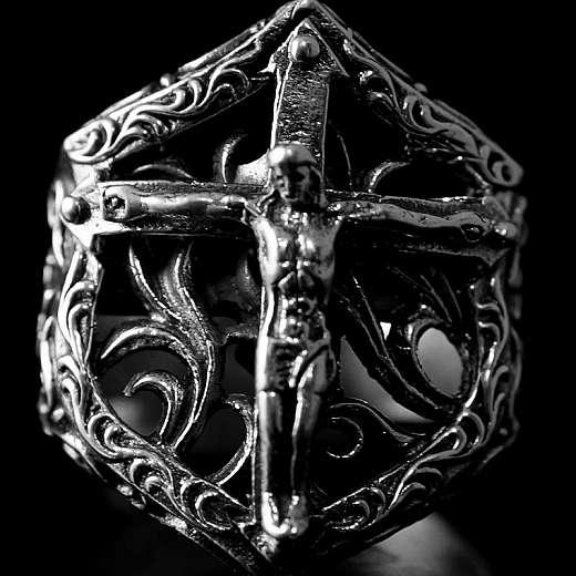 Bikerschmuck, Jesus Ring