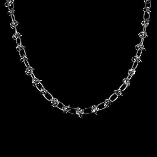 Knotenkette aus Sterling Silber handgearbeitet
