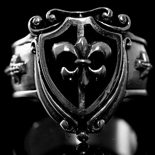 Lilien Ring Wappen Mittelalterschmuck