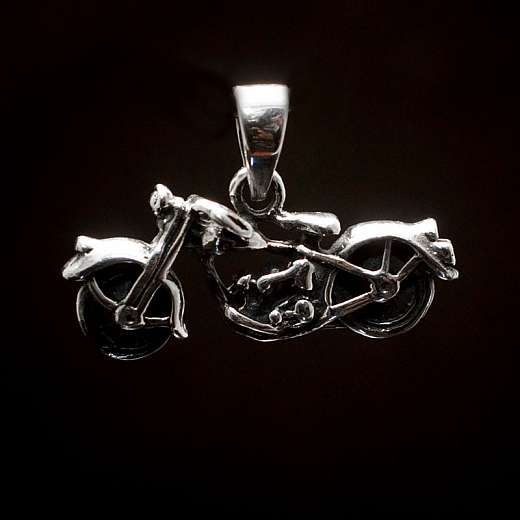 Bikerschmuck Motorrad Anhänger Silber
