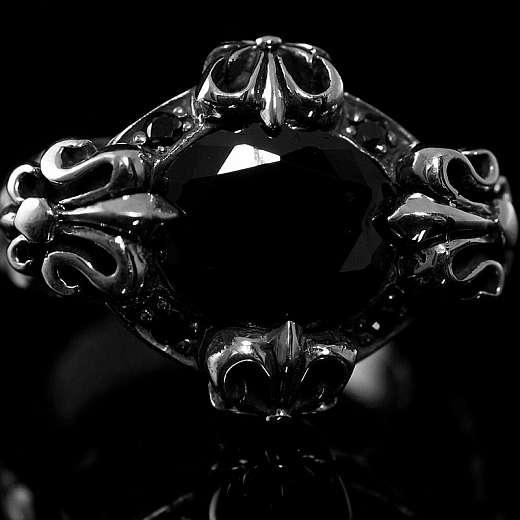 Ring Fleur de Lis mit Schmuckstein
