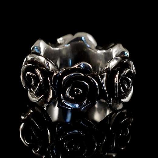 Ring mit Rosen aus 935er Silber