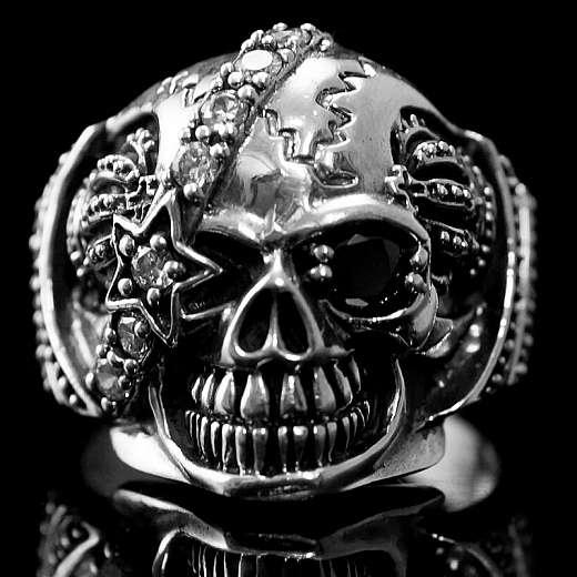 Skullringe mit Krone und Stern