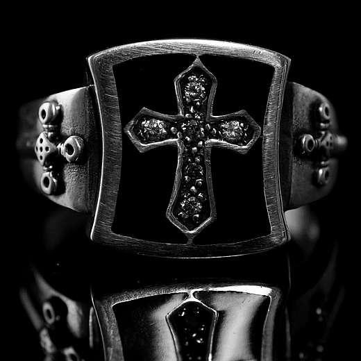 Templer Schmuck, Templerkreuz Wappen Ring