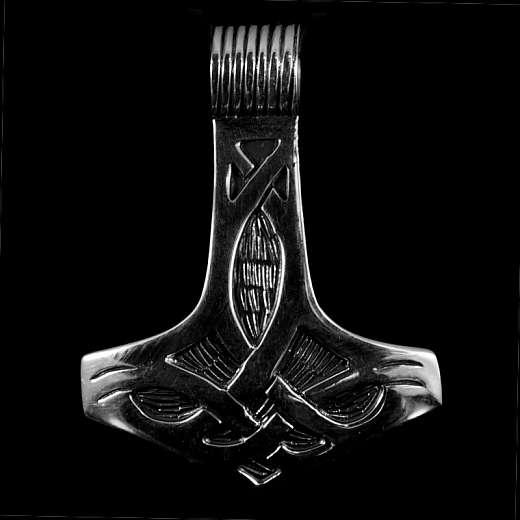 Thors Hammer Anhänger mit Tribals