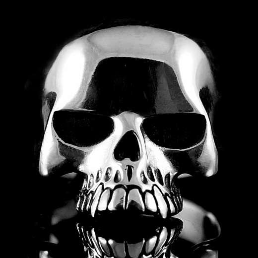 Skull Ring Keith aus Ag 925 Sterlingsilber