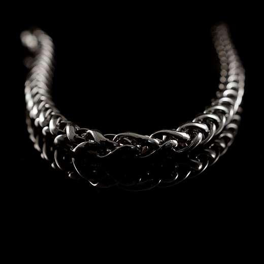 Bikerschmuck Zopfkette Silber 10 mm