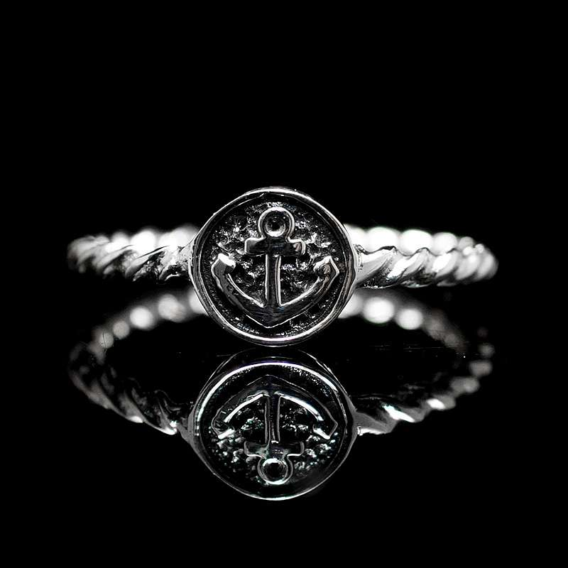 Kleiner Ankerring aus Silber