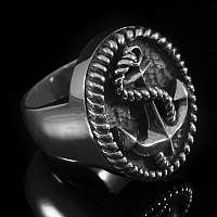 Anker Ring (Seemannsgarn big) aus Ag 935er Silber