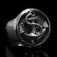 Ring mit Anker aus Ag 935er Silber, (Bootsmann big)