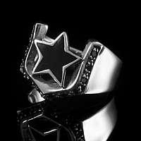 Rockabilly Schmuck Stern Ring aus Sterlingsilber
