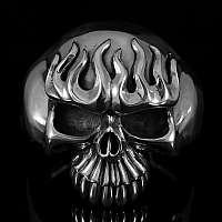 Biker Schmuck Armreif  Burning Skull