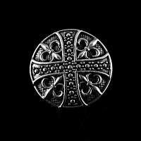 Schraub Niete mit Lilien und Kreuz