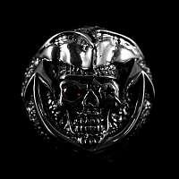 Schraubniete Skull mit Hut und Schmuckstein