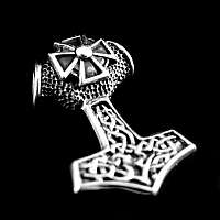Anhänger Thors Hammer Kreuz mit Tribals