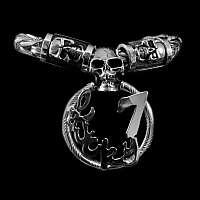 Totenkopf Königskette aus 935er Silber