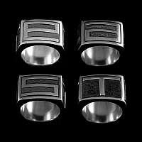 Ringe für das East Hotel Jubiläum aus 935er Silber