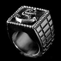 Anker Ring mit wunderschöner Ringschiene aus 935er Silber