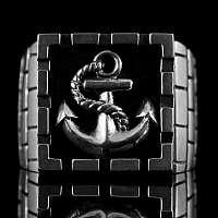 Anker Ring Smutje big mit Tau aus 935 Silber