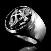 Glaube Liebe Hoffnung Siegelring aus 935er Silber