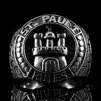 St. Pauli Ring mit Stadt Wappen aus Silber