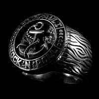 Anker Ring St. Pauli 925er Sterling Silber